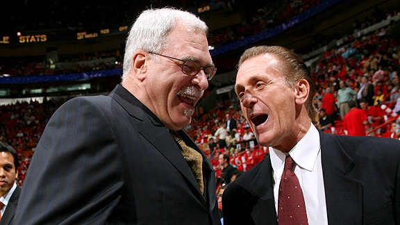 Coaches Phil Jackson and Pat Riley