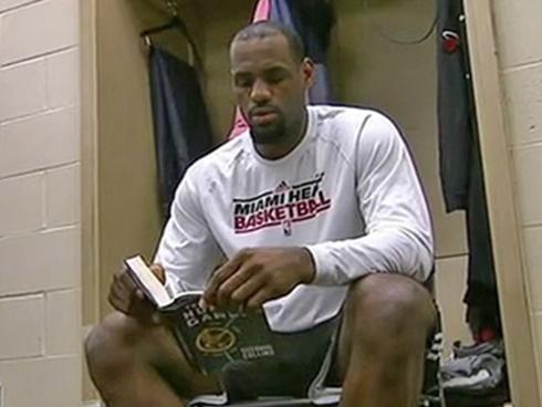LeBron Reading